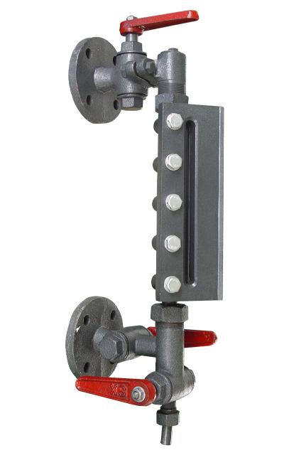 5型双色水位计用于锅炉气包或其它压力容器上监视